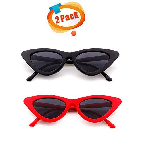 Small Cat Eye Sunglasses Brand Designer Vintage Sexy Eyewear Shades (red, - Cobain Sunglasses Brand Kurt