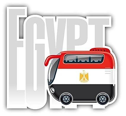 Amazon com: Egypt Flag Bus Travel Vinyl Decal Bumper Sticker 5'' X 5