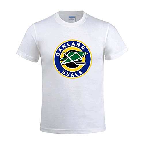 Ultimate College Sports Fan (NHL Oakland Seals Men's O Neck Design Tee Shirt White)