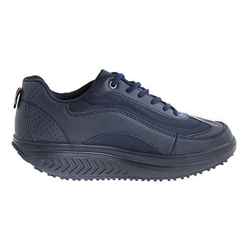 Herren mit Schuhe abgerundeter Wandern Blau zum Sohle Massageschuh für Aktiv qPB4wET
