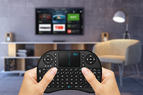 632aeef0bd5 Rii 2.4GHz Keyboard I8 Air Mouse Remote Control Touchpad For PC Android TV  box Black