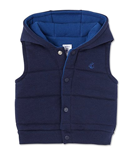 Petit Bateau Baby - Jungen Weste Blouson SM, Blau (Peacoat 34), 92 (Herstellergröße: 24m/86cm)