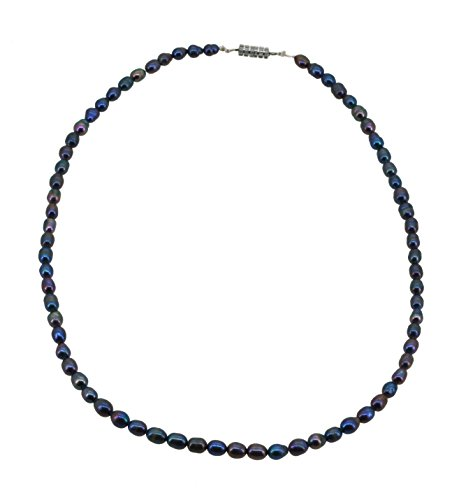 Unique Small Dyed Black Freshwater Cultured Pearl Choker Necklace 16 Inches (Oyster Costume)
