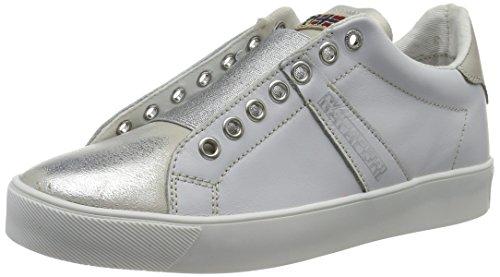 Weiß silver Minna Basses Femme Napapijri white w0AOn