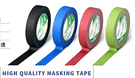 Masking Tape,Craft Multi Colored Masking Tape 4 Rolls Variety- Assorted Color Coded Rolls 0.95 inch - Fun DIY Arts Supplies Kit M-Jump 33FT Washi Tapes for Arts and Crafts Scrapbook Masking Paper