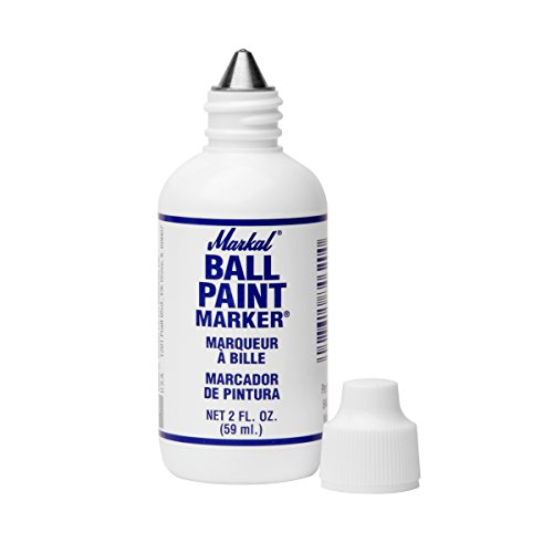 Markal Ball Paint Marker with 1/8'' Tip, White (Pack of 12) by Markal