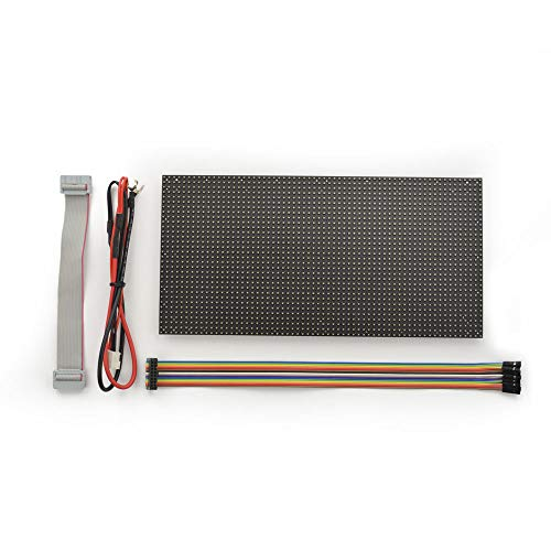 64x32 Flexible RGB LED Matrix Panel 4mm Pitch Compatible with Raspberry Pi, Arduino Mega 2560- Arduino Flex Led Display Screen for Microcontrollers with Large RAM and High Speed