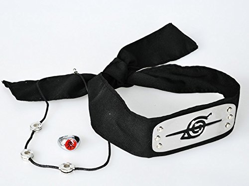 Naruto Uchiha Itachi Cosplay Head Band+ring+necklace Cosplay