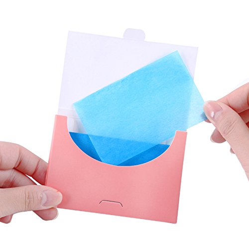 200 Pcs (4 Box) Flax Aloe Face Oil Absorbing Paper Sheets Makeup Blotting Papers Oil Absorbing Tissues