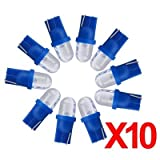 Sonline 10x T10 Bulbs 194 168 W5W Blue LED Wedge Inverted Side