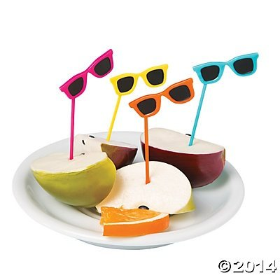 Sunglasses Food Cupcake Picks - 72 pcs