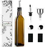 PrettyCare Olive Oil and Vinegar Dispenser Bottles 17oz
