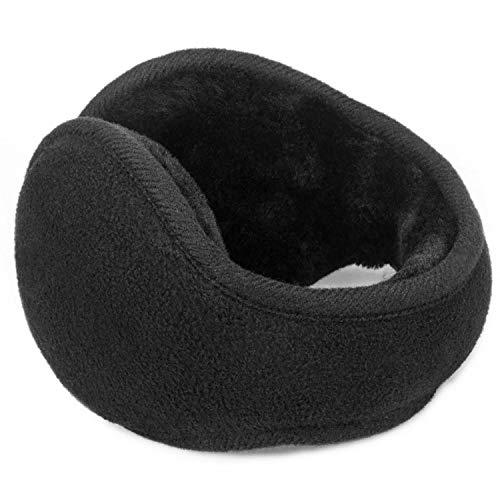 Donsine Fleece Ear Muffs Winter Earmuffs for Men & Women Black