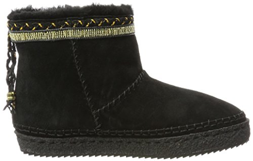 001 Gold Laidback Nyali London Femme Bottines Noir Black 6wB7Uw1q