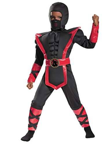 Disguise 84023M Ninja Toddler Muscle Costume, Medium (3T-4T) (Toddler Ninja Costume)