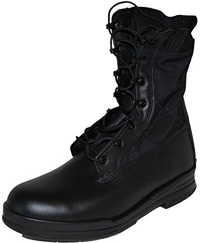 Bates Men's 8'' Trophical Steel Toe Boots, Black Leather, 16 M 8' Steel Toe Boots