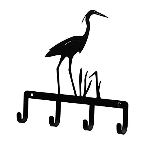 Wrought Iron Heron Key Rack - Key Wrought Iron