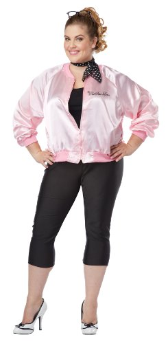 [California Costumes Women's Plus-Size The Pink Satin Ladies Plus, Pink, 2X] (Poodle Skirt Costume Plus Size)