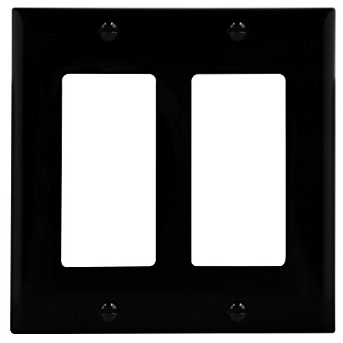 - ENERLITES Decorator Light Switch or Receptacle Outlet Wall Plate, Size 2-Gang 4.50