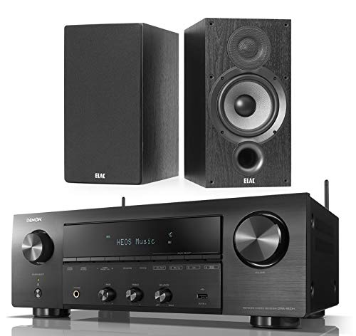 Denon DRA-800H 2-Channel Home Audio/Video Stereo Receiver Bundle with Elac Debut 2.0 B6.2 Bookshelf Speakers - (Pair) Black (Dra Denon)