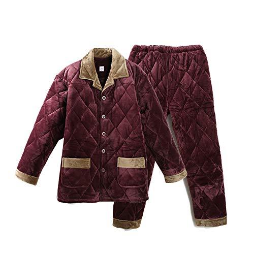 75 Inverno CasaXxl170 In Xl Velluto Pajamasx Caldo 85kg Servizio Da Trapuntato Di 180cm Uomo Vestito Pigiama Più Xxl170 Flanella 85kg 180cm75 Y6bf7yvg