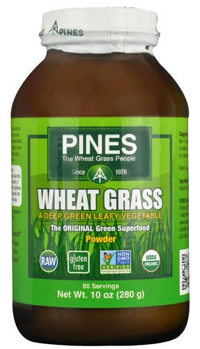 (Pines International Organic Wheat Grass Powder -- 10 oz - 2pc)