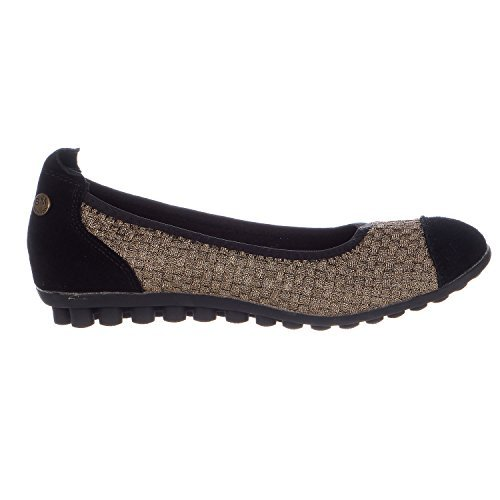 Bronze On Slip (Bernie Mev Bella Me Ballerina Flat Slip On Ballet Shoe - Bronze - Womens - 40)