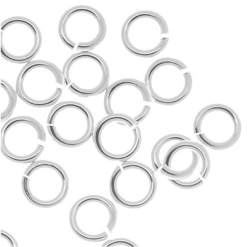 Ring Display Nose (Beadaholique 20-Piece Sterling Jump Lock Rings, 4mm, 20-Gauge, Silver)