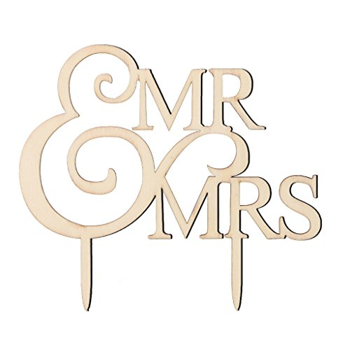 Funnyday 1 Pc Wooden Mr Mrs Bride Groom