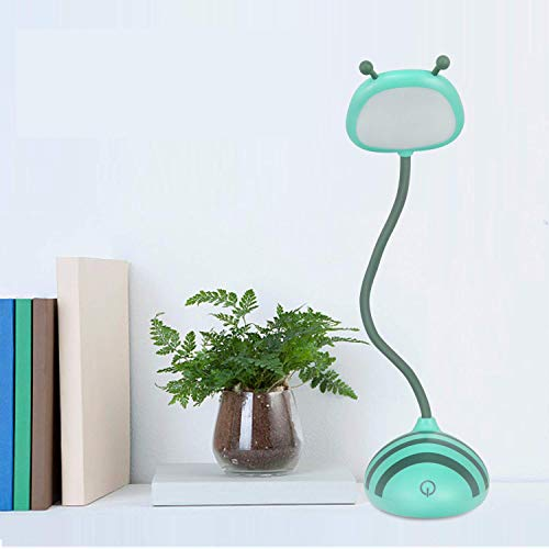 Tycipy LED Desk Lamp Bee Design Touch Control Dimming Light Flexible USB Rechargeable Desk Light Eye-Care Children Studying Lamp (Blue)