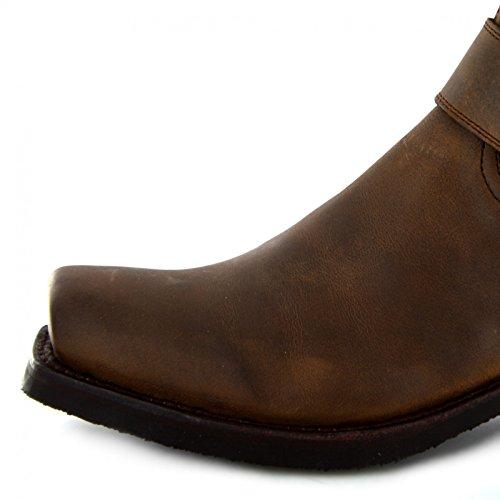Boots Unisex Braun Tang Erwachsene Stiefel Mad Sendra Biker für 8286 aqx6OdnA
