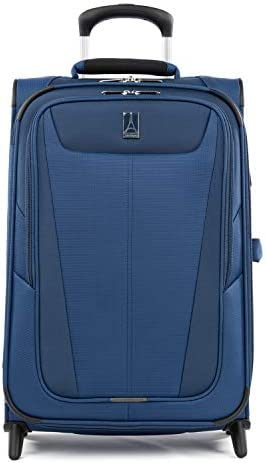 Travelpro Maxlite 5-Softside Lightweight Expandable Upright Luggage, Sapphire Blue, Carry-On 22-Inch