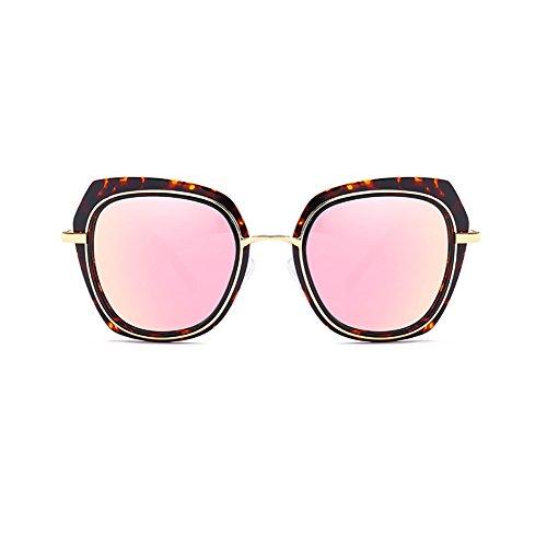 Gafas Gafas de moda la sol arena Color de la polarizadas la mujeres YXX playa de de ropa para Pink YwfvrOYn4