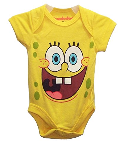 [Nickelodeon SpongeBob SquarePants Baby Bodysuit Dress Up Outfit (6-9 Months)] (Spongebob Outfit)