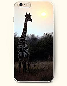 OOFIT Apple iPhone 6 Case 4.7 Inches - Giraffe Standing under the Sun