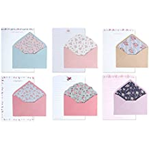 IMagicoo 48 Cute Lovely Writing Stationery Paper Letter Set with 24 Envelope / Envelope Seal Sticker (1)