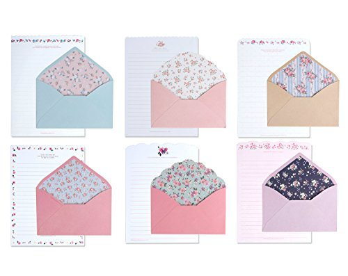IMagicoo 48 Cute Lovely Writing Stationery Paper Letter Set with 24 Envelope/Envelope Seal Sticker (1)]()