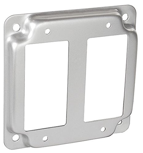 4 Inch Square 1/2 Inch Raised Two Decorative Or Gfci Receptacle Industrial Surface Cover-10 per case