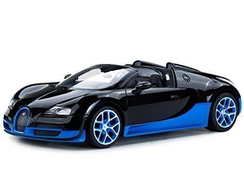 Radio Remote Control 1/14 Bugatti Veyron 16.4 Grand Sport Vitesse Licensed RC Model Car (Black/Blue) (Car Licensed)