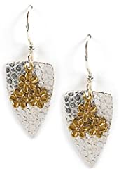 Jody Coyote Earrings QG007 Solstice Collection silver dangle