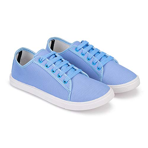 Bersache Party Casual Shoes, Outdoor Boots,Best Rates, Canvas Shoes,Sneakers Shoes, Loafers Shoes, Shoes, Trekking Shoes, Sports Shoes,Comfortable for Women's/Girls's (Sky-Blue-1252)