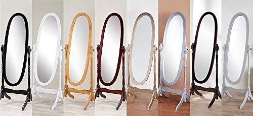 GTU Furniture Swivel Full Length Wood Cheval Floor Mirror, in White/Black/Cherry/Oak/Silver/Gold Finish (Espresso)