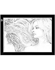 NXDRS LED Tavoletta Luminosa per Disegno, A4 Ultra Sottile Lavagna Luminosa Light Board Tavolette Disegno per Drawing Sketching, Dimmable Tracing Pad USB per Gli Artisti, Disegnare, Animazione