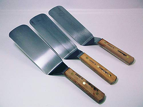 High Carbon Dexter - Set of (3) - 2386C-8 Spatula Grill Turners 8X3 Blade Pro Duty Factory Seconds