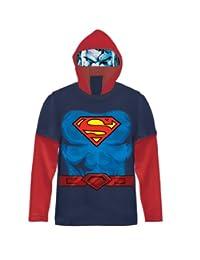 DC Comics Superman Boys Navy Costume T-shirt with Hood