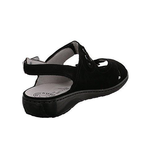 Waldläufer Sandales Femme pour Noir Garda Rrwq5RH