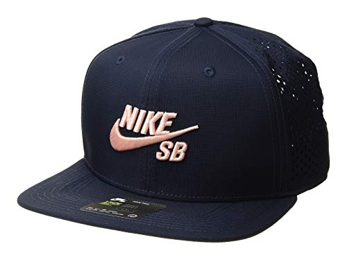 Nike Mens SB Pro Snapback Hat Obsidian/Storm Pink