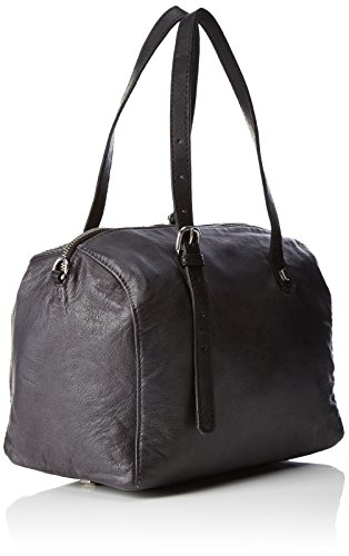 Liebeskind Berlin Pokolah7 City, Borsa a Spalla Donna Nero (Oil Black)
