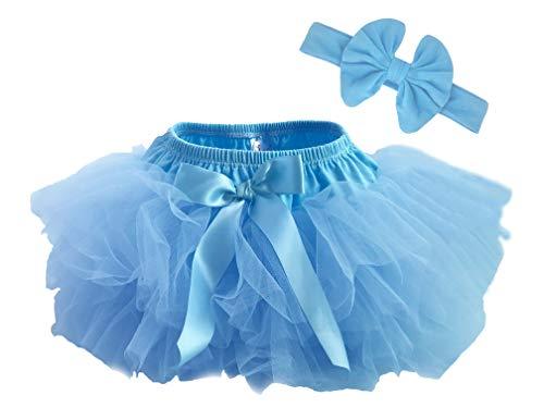 Tutu Bloomer - Dancina Baby Bloomer Romper Tutu Skirt Ages 6-24 Months Lightblue