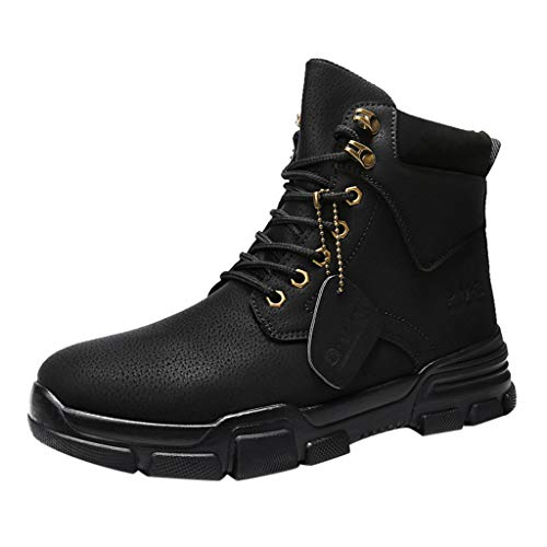 Haforever Retro Combat Boots Men's Road Captain Motorcycle Boots Tooling Shoe
